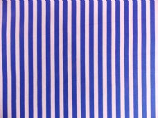 Royal Blue with White Stripe 100% Cotton Fabric